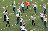 """The Marching Bobcats from Benton Community High School performs at the State Marching Band Festival at Kingston Stadium in Cedar Rapids on Saturday October 6, 2012. Their program included """"Sweet Child O Mine"""", """"Dude Looks Like a Lady"""", """"Crazy/November Rain"""", and """"Knockin' on Heaven's Door""""."""