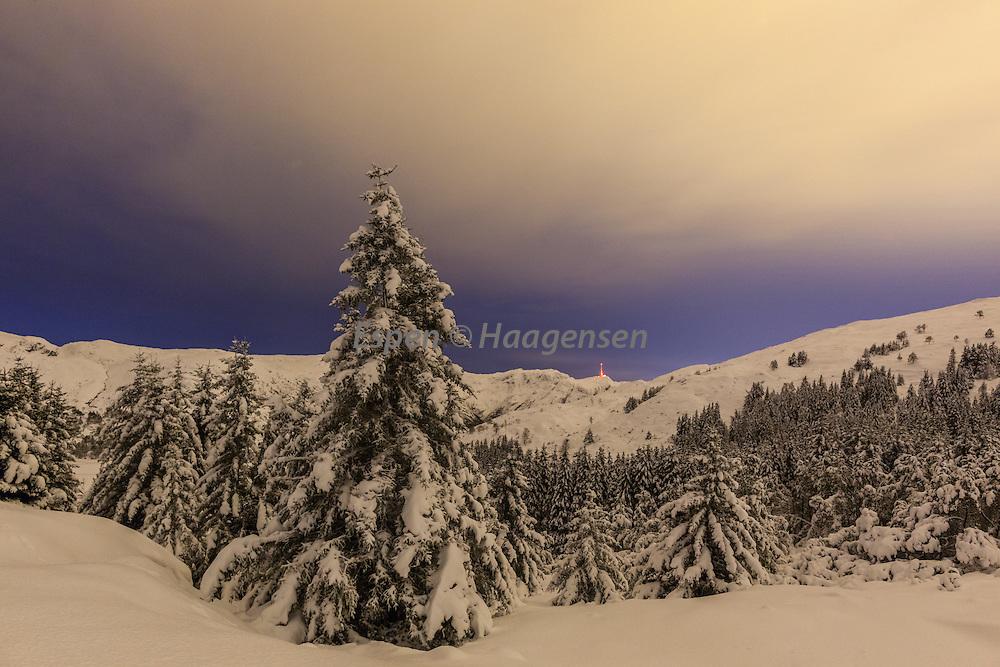 Winter wonderland close to Rundemanen, Bergen.