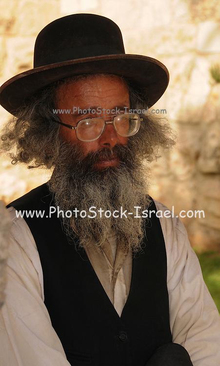 Israel, Jerusalem, a portrait of a mature Jewish man
