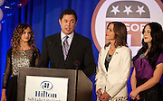 Rep. Jason Chaffetz, R-Utah, alongside his family, speaks at the Utah Republican Party results party, Tuesday, Nov. 6, 2012.