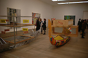SIR NICHOLAS SEROTA and BRIAN BOYLAN, Martin Kippenberger, Tate Modern. 7 Febriuary 2006. -DO NOT ARCHIVE-© Copyright Photograph by Dafydd Jones 66 Stockwell Park Rd. London SW9 0DA Tel 020 7733 0108 www.dafjones.com
