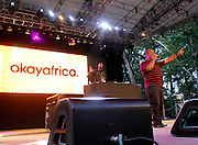 Kenny Bobien performs at SummerStage on Rumsey Playfield in Central Park in New York City, New York on June 15, 2014.
