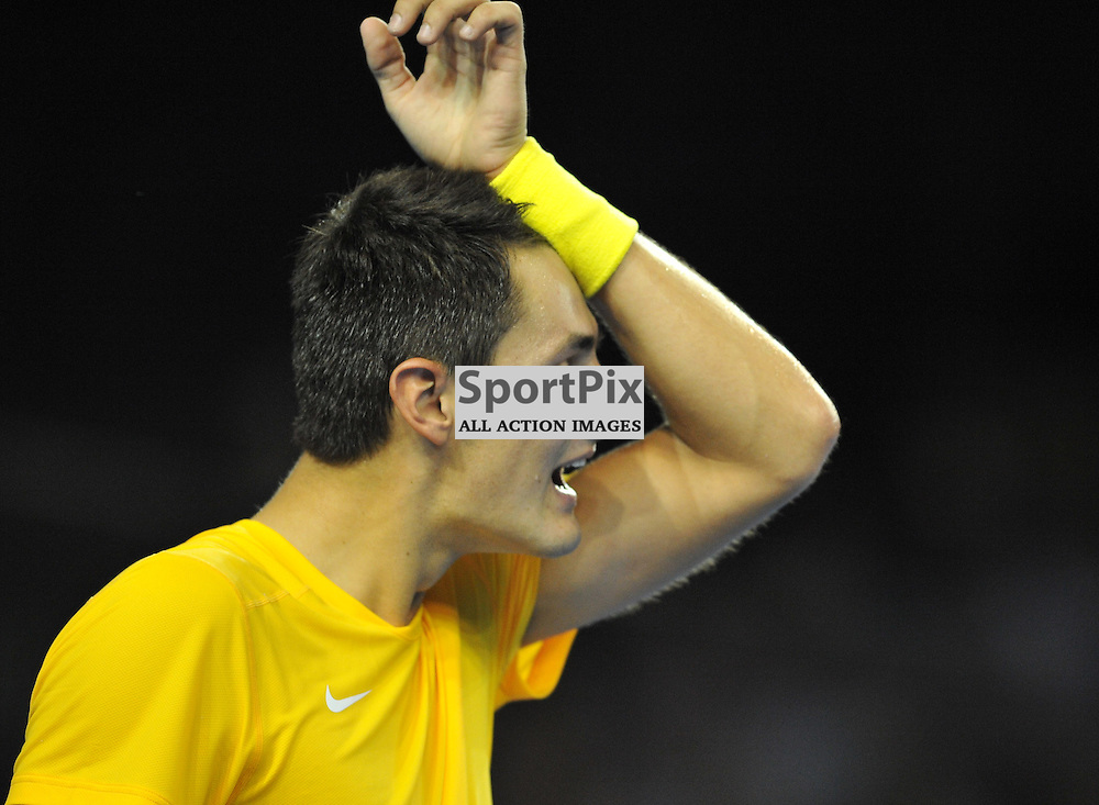 Bernard Tomic loses the third set during the Great Britain v Australia, Semi Finals,  Aegeon Davis Cup by BNP Paribas, Friday 18 September 2015 (c) Angie Isac   SportPix.org.uk