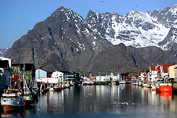 NORWAY LOFOTEN 27MAR07 - General view of Henningsvaer port on the Lofoten islands...jre/Photo by Jiri Rezac..© Jiri Rezac 2007..Contact: +44 (0) 7050 110 417.Mobile:  +44 (0) 7801 337 683.Office:  +44 (0) 20 8968 9635..Email:   jiri@jirirezac.com.Web:    www.jirirezac.com..© All images Jiri Rezac 2007 - All rights reserved.