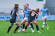 Manchester City Women forward Lauren Hemp (15) in action during the FA Women's Super League match between Manchester City Women and BIrmingham City Women at the Sport City Academy Stadium, Manchester, United Kingdom on 12 October 2019.