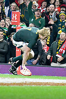 Rugby Union - 2018 Autumn Internationals (Under Armour Series) Wales vs. South Africa<br /> <br /> Pieter-Steph du Toit, of South Africa scores a disallowed try at The Millennium Stadium.<br /> <br /> COLORSPORT/WINSTON BYNORTH