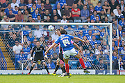 Portsmouth midfielder Kal Naismith scores a goal from distance to make it 1-1 during the Sky Bet League 2 match between Portsmouth and Northampton Town at Fratton Park, Portsmouth, England on 7 May 2016. Photo by Adam Rivers.
