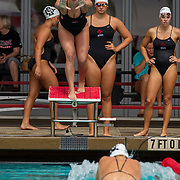 15 October 2015 - The San Diego State Aztecs Women's Swim & Dive Team took on Oregon State and Vanderbilt at the Aztec Aquaplex. 200 yard Medley Relay Heat 2