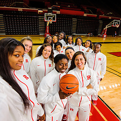 "Team ""selfie"" taken on Rutgers Media Day and Team Photos on Oct. 22, 2014 at Louis Brown Rutgers Athletic Center in Piscataway, New Jersey."
