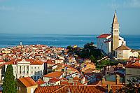 Slovenie, region de Primorska, Piran depuis les remparts// Slovenia, Primorska region, Adriatic Coast, Piran