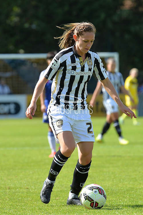 Notts County Ladies midfielder Dunia Susi on the ball during the FA Women's Super League match between Chelsea Ladies FC and Notts County Ladies FC at Staines Town FC, Staines, United Kingdom on 6 September 2015. Photo by Mark Davies.
