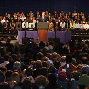 Sen.Kerry durante el rally por la reeleccion de Governador Deval Patrick-(D)en el Hynes Convention Center, en Boston.<br /> <br /> Minutos mas tarde el Presidente Barack Obamas se dirijió tambien a la audiencia en apoyo al Gov. Deval Patrick