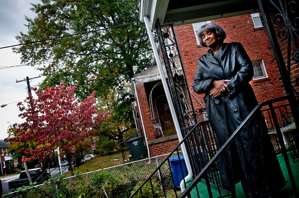 Black voters in the Washington DC neighborhood Anacostia..Ruth Brady..Photographer: Chris Maluszynski /MOMENT