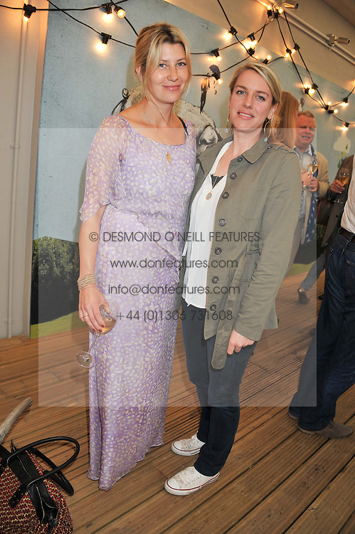 Left to right, SARA PARKER BOWLES and LAURA LOPES daughter of HRH The Duchess of Cornwall at a party to celebrate the publication on 'Let's Eat: Recipes From My Kitchen Notebook' by Tom Parker Bowles held at Selfridge's Rooftop. Selfridge's, Oxford Street, London on 27th June 2012.
