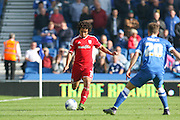 Cardiff City defender Fabio Da Silva passes the ball up the field during the Sky Bet Championship match between Brighton and Hove Albion and Cardiff City at the American Express Community Stadium, Brighton and Hove, England on 3 October 2015. Photo by Phil Duncan.