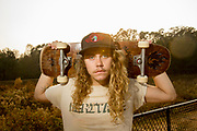 Berkley Kirsche, 21, of Athens, Georgia, poses for a portrait at the Skate Park of Athens in Athens, Georgia on Monday, Nov. 14, 2016. On top of being a sculpture major at the University of Georgia, the in-town manager for popsicle company, King of Pops, and new hire at Jittery Joe's Coffee, Kirsche is also a skateboarder. After skating in 5th and 6th grade, Kirsche picked skateboarding back up over the summer of 2016 and has been skating as much as possible since then, he says. (Photo/Casey Sykes, www.caseysykes.com)