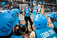 The Derby Dolls beat Team Legit to win the Battle on the Bank III tournament, held at the San Diego County Fair, June 27, 2010.