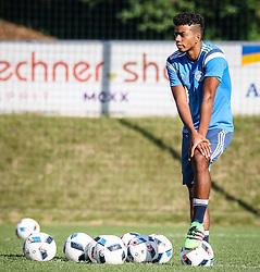 01.07.2016, Athletic Area, Schladming, AUT, U19 EURO, Vorbereitung Deutschland, DFB U19 Junioren, im Bild Benjamin Henrichs (Bayer 04 Leverkusen, Deutschland U19) // during a training camp of Team Germany for preparation for the UEFA European Under-19 Championship at the Athletic Area, Austria on 2016/07/01. EXPA Pictures © 2016, PhotoCredit: EXPA/ Martin Huber