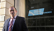 © Licensed to London News Pictures. 03/02/2012, London, UK. Ed Davey the new minister for Energy and Climate Change arrives at his departments offices in Whitehall. Photo credit : Stephen Simpson/LNP