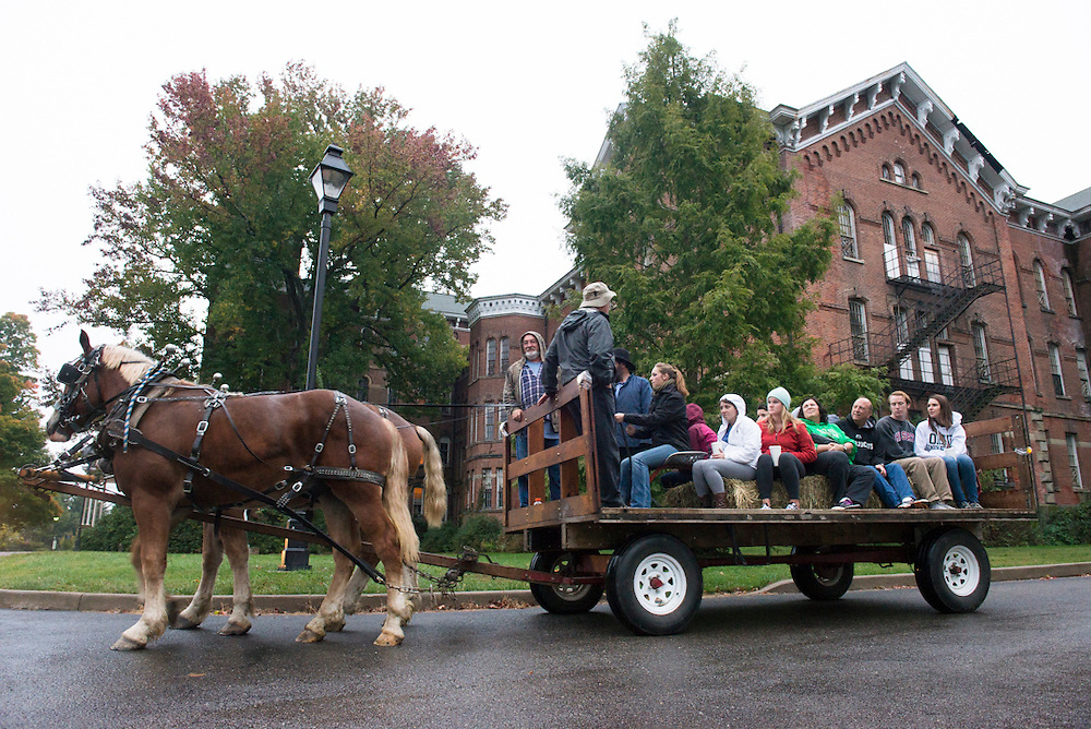 Hay Rides took place in the Ridges as part of the Home Coming Weekend Festivities. Partakers received a thorough tour of the ridges while enjoying great company and fall treats.