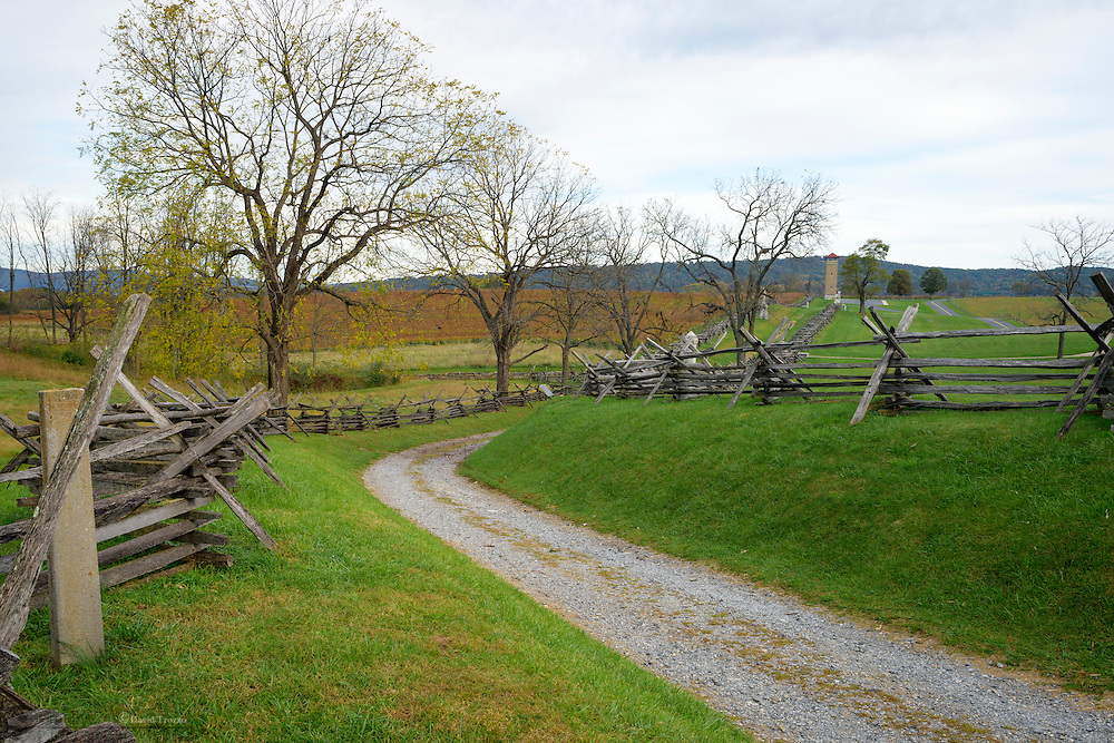 Bloody Lane formally known as the sunken road, Antietam National Battlefield, Sharpsburg, Maryland, USA.