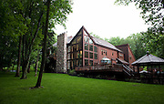 The Ivyland, PA, home of Neil Morris and Rhonda Goldberg complete with walls of windows, lots of cedar woodwork, and dramatic angles and view.For The Philadelphia Inquirer
