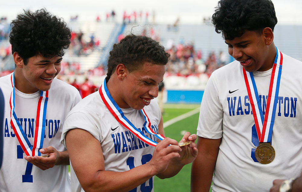 Houston Washington verses Kilgore during the UIL soccer class 4A semifinals at Birkelbach Field, Georgetown, Wednesday, April. 12, 2017. (Stephen Spillman)