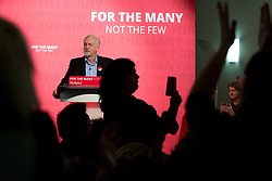 © Licensed to London News Pictures. 6/5/2017. Leicester, UK. Labour Leader JEREMY CORBYN speaking at a rally in Leicester today. Photo credit : Dave Warren/LNP