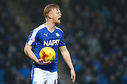 Chesterfield FC defender Liam O'Neil shows is frustration during the Sky Bet League 1 match between Chesterfield and Shrewsbury Town at the Proact stadium, Chesterfield, England on 2 January 2016. Photo by Aaron Lupton.