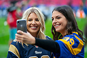 Mollie King, Singer, song writer during the International Series match between Los Angeles Rams and Cincinnati Bengals at Wembley Stadium, London, England on 27 October 2019.