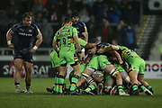 Cobus Reinach waits for ball during the Aviva Premiership match between Sale Sharks and Northampton Saints at the AJ Bell Stadium, Eccles, United Kingdom on 25 November 2017. Photo by George Franks.