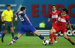 Niko Kranjcar of Croatia vs Mehmet Topal of Turkey during the UEFA EURO 2008 Quarter-Final soccer match between Croatia and Turkey at Ernst-Happel Stadium, on June 20,2008, in Wien, Austria. Turkey won after penalty shots. (Photo by Vid Ponikvar / Sportal Images)