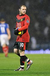 Wayne Rooney of Manchester United. Portsmouth v Manchester United (1-4), Barclays Premier League Fratton Park, Portsmouth, 28th November 2009.