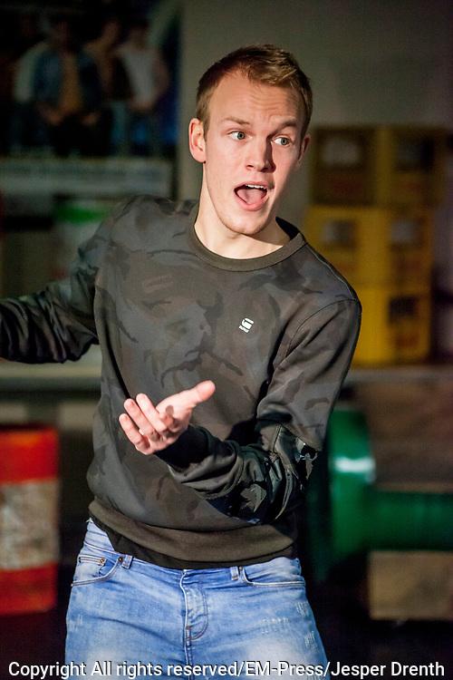 Perspresentatie van de musical The Full Monty<br /> <br /> Op de foto: Kick Spijkerman