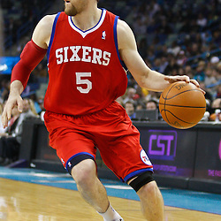 January 3, 2011; New Orleans, LA, USA; Philadelphia 76ers forward Andres Nocioni (5) against the New Orleans Hornets during the first quarter at the New Orleans Arena.   Mandatory Credit: Derick E. Hingle