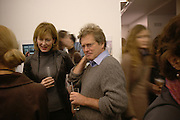 Julia Peyton-Jones and John Pawson,  CPhoto magazine launch hosted by Elena Foster. Serpentine Gallery. January 14 2006. London. ONE TIME USE ONLY - DO NOT ARCHIVE  © Copyright Photograph by Dafydd Jones 66 Stockwell Park Rd. London SW9 0DA Tel 020 7733 0108 www.dafjones.com