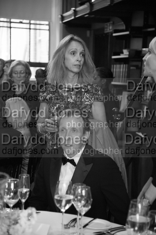 SABRINA GUINNESS; DAVE DAWSON, The London Library Annual  Life in Literature Award 2013 sponsored by Heywood Hill. The London Library Annual Literary dinner. London Library. St. james's Sq. London. 16 May 2013.