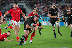 "November 1, 2019, TóQuio, Japão: TÃ""QUIO, TO - 01.11.2019: RUGBY WORLD CUP 2019 ALL BLACKS X WALES - Try All Blacks from the right end of the second center # 13. Ryan Crotty Match valid for the Rugby World Cup 2019 bronze medal match between All Blacks (New Zealand) and Wales (Wales) held at TOKYO STADIUM in Tokyo, JPN  (Credit Image: © Bruno Ruas/Fotoarena via ZUMA Press)"