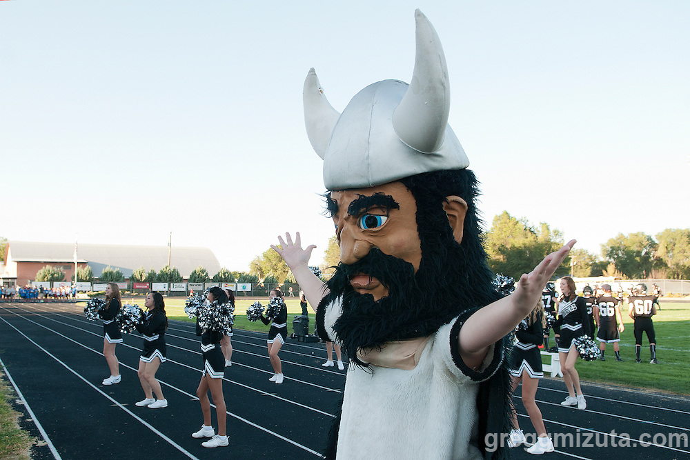 Vale's mascot during the season opener against Ontario on Friday August 30, 2013 at Frank Hawley Stadium in Vale, Oregon. Vale won the game 29-21.