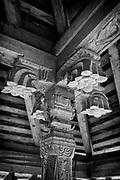 Detail of pillar.HULUGALLE TAMPITA VIHARE, <br /> off NIKAWERITIYA