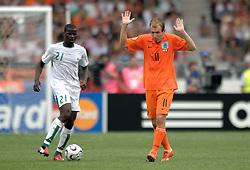 16-06-2006 VOETBAL: FIFA WORLD CUP: NEDERLAND - IVOORKUST: STUTTGART <br /> Oranje won in Stuttgart ook de tweede groepswedstrijd. Nederland versloeg Ivoorkust met 2-1 / Arjen Robben<br /> ©2006-WWW.FOTOHOOGENDOORN.NL