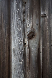 detail of wood planks on an abandoned building