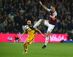 October 20, 2017 - London, England, United Kingdom - West Ham United's Marko Arnautovic.during Premier League match between West Ham United against Brighton and Hove Albion at The London Stadium, Queen Elizabeth II Olympic Park, London, Britain - 20 Oct  2017  (Credit Image: © Kieran Galvin/NurPhoto via ZUMA Press)