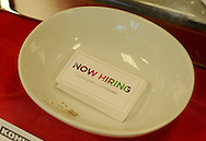 """RETAIL11P<br /> Seasonal hiring business cards greet customers at Kohl's Friday October 2, 2015 in Yardley, Pennsylvania.  Kohl's plans to add 69,000 seasonal jobs, with hiring to start this month, """"to ensure an easy shopping experience and great service during the busy holiday shopping season.""""  William Thomas Cain /For The Inquirer"""