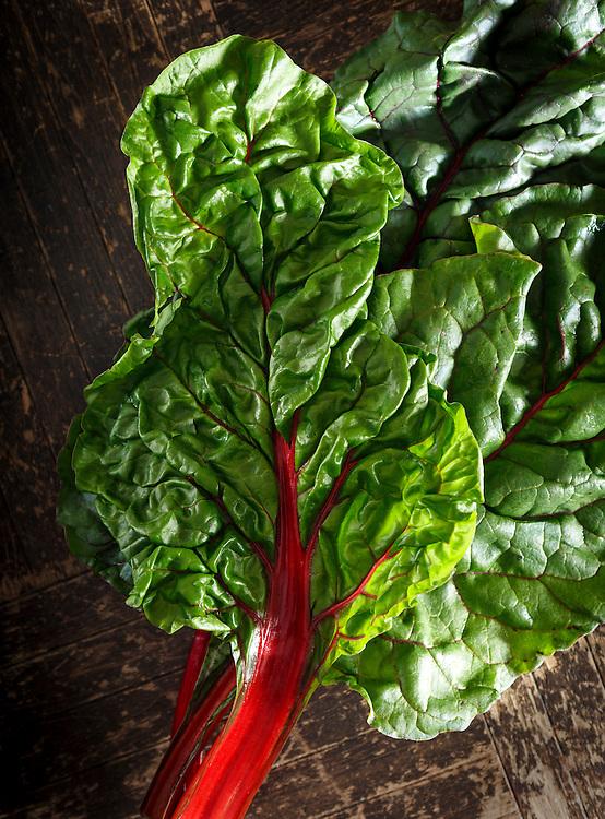 Fresh Organic Red Swiss Chard