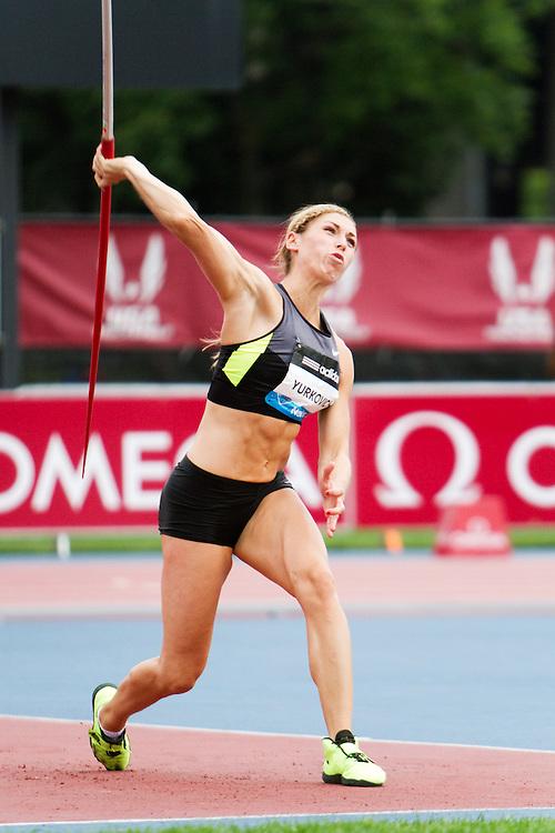 Samsung Diamond League adidas Grand Prix track & field; Rachel Yurkovich, USA, Javelin