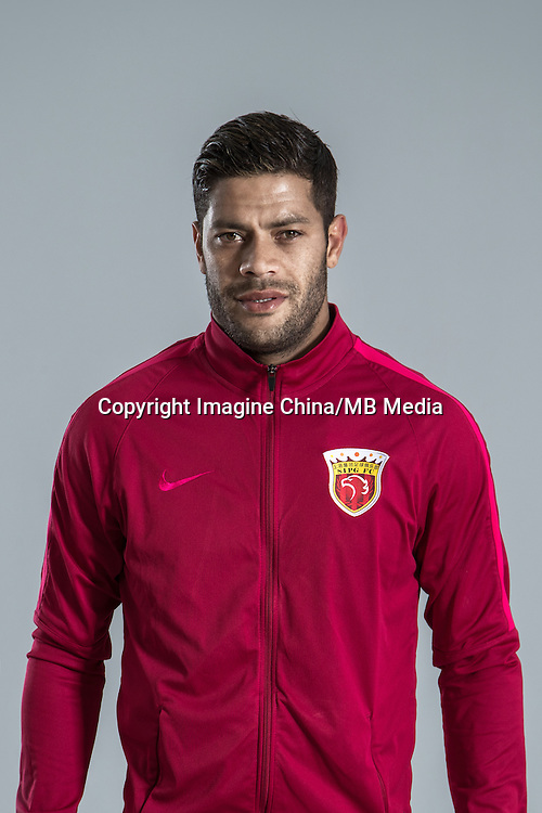 Portrait of Brazilian soccer player Givanildo Vieira de Sousa, better known as Hulk, of Shanghai SIPG F.C. for the 2017 Chinese Football Association Super League, in Shanghai, China, 15 February 2017.