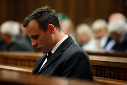 Paralympian athlete Oscar Pistorius (L), accused of the murder of his girlfriend Reeva Steenkamp three years ago, looks on during the hearing in his murder trail at the High Court in Pretoria, on July 6, 2016..Paralympian Oscar Pistorius will learn on July 6 how long he will spend in jail when a judge sentences him for murdering his girlfriend Reeva Steenkamp three years ago. Pistorius was freed from prison in the South African capital Pretoria last October after serving one year of a five-year term for culpable homicide -- the equivalent of manslaughter.. / AFP PHOTO / POOL / MARCO LONGARI (Credit Image: © Marco Longari/Xinhua via ZUMA Wire)