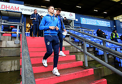 Ollie Clarke and Tom Broadbent of Bristol Rovers arrive at The Sportsdirect.com Park for the fixture against Oldham Athletic - Mandatory by-line: Robbie Stephenson/JMP - 30/12/2017 - FOOTBALL - Sportsdirect.com Park - Oldham, England - Oldham Athletic v Bristol Rovers - Sky Bet League One