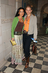 Left to right, actress AMELIA POWERS and ARABELLA ZAMOYSKA-TOBIAS  at the No Campaign's Summer Party - a celebration of the 'Non' and 'Nee' votes in the Europen referendum in France and The Netherlands held at The Peacock House, 8 Addison Road, London W14 on 5th July 2005.<br />